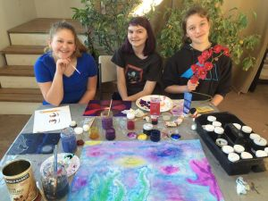 art classes skagit County Red-Barn kids painting