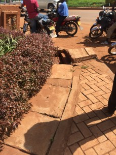 A clogged drain leading from Shell Bugolobi (Photo: Simon Kaheru)