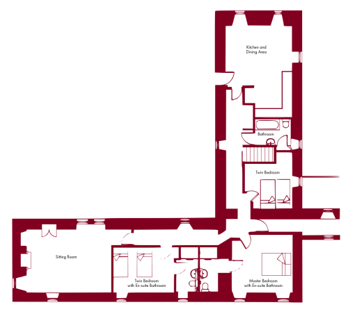 small resolution of langskaill self catering apartment floor plan