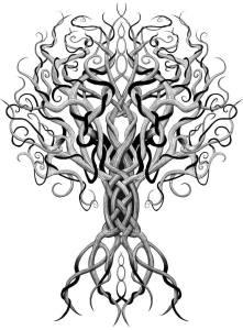 Världsträdet - metafysikskt invävd i livet.