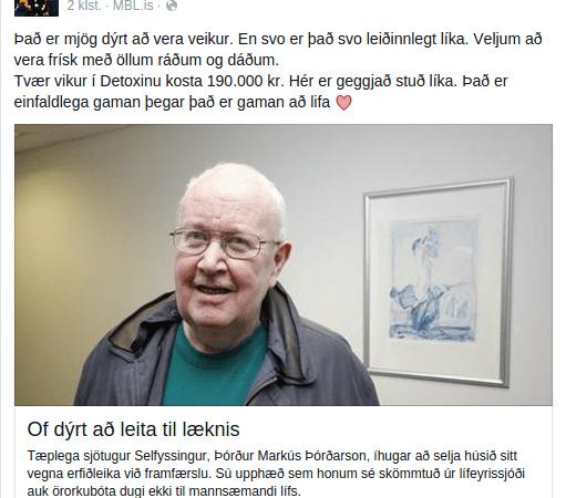 Jónína Ben fer yfir öll strik siðferðis