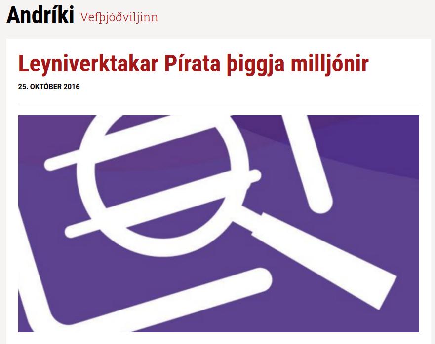 Lyga og áróðursmiðillinn Andríki