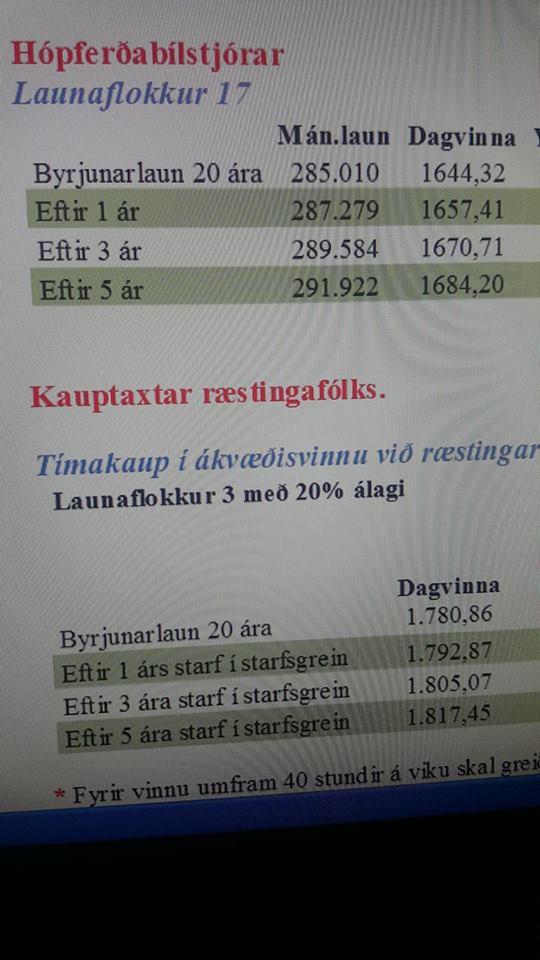 Ræstitæknar með betri laun en hópferðabílstjórar
