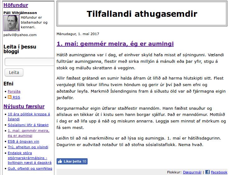 Leigupenni auðvaldsins ræðst á aldraða og öryrkja