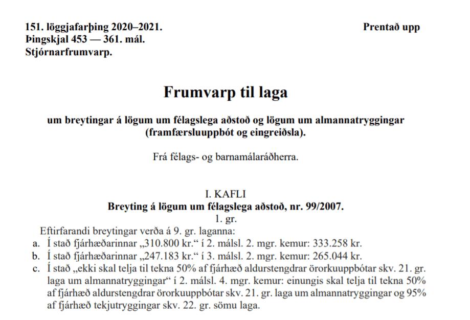 Breytingar og umsagnir við frumvarpið um 50 þúsund kallinn þurfa að koma inn í dag.
