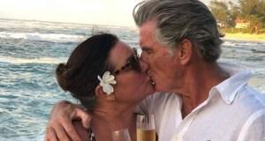 Пиърс Броснан затвори устите на клюкарите като се обясни в любов на 100-килограмовата си съпруга (Снимки):