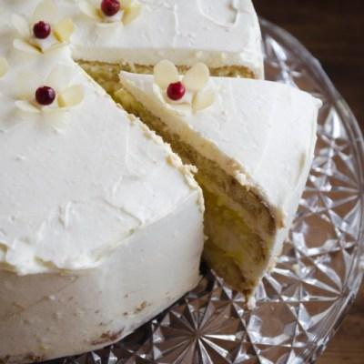 Maskarponės tortas su citrininiu kremu