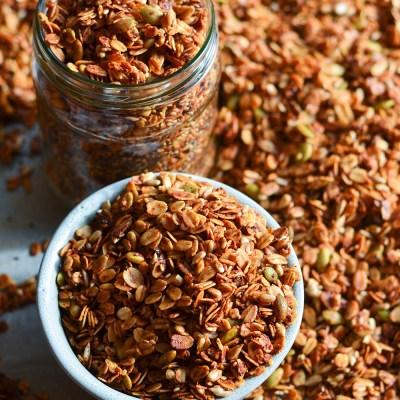 Naminė granola su sėklomis