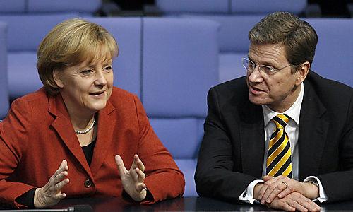Merkel e Westerwelle