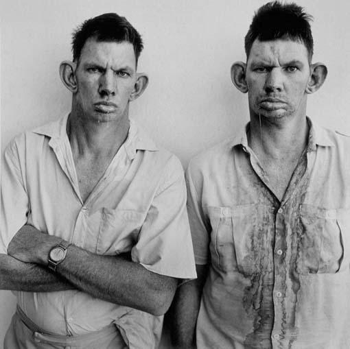 Roger Ballen: dresie cassie twins western transvaal 1993 from platteland