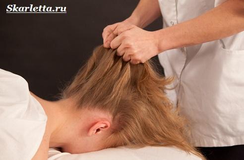 массаж головы 5
