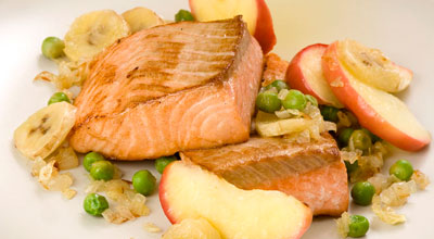 Рыбно-яблочный салат. Лёгкая закуска к любому празднику