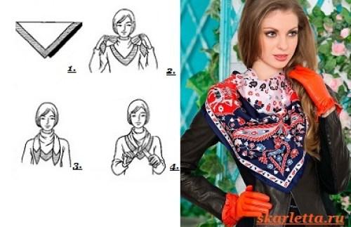 Как-завязать-платок-на-шее-3