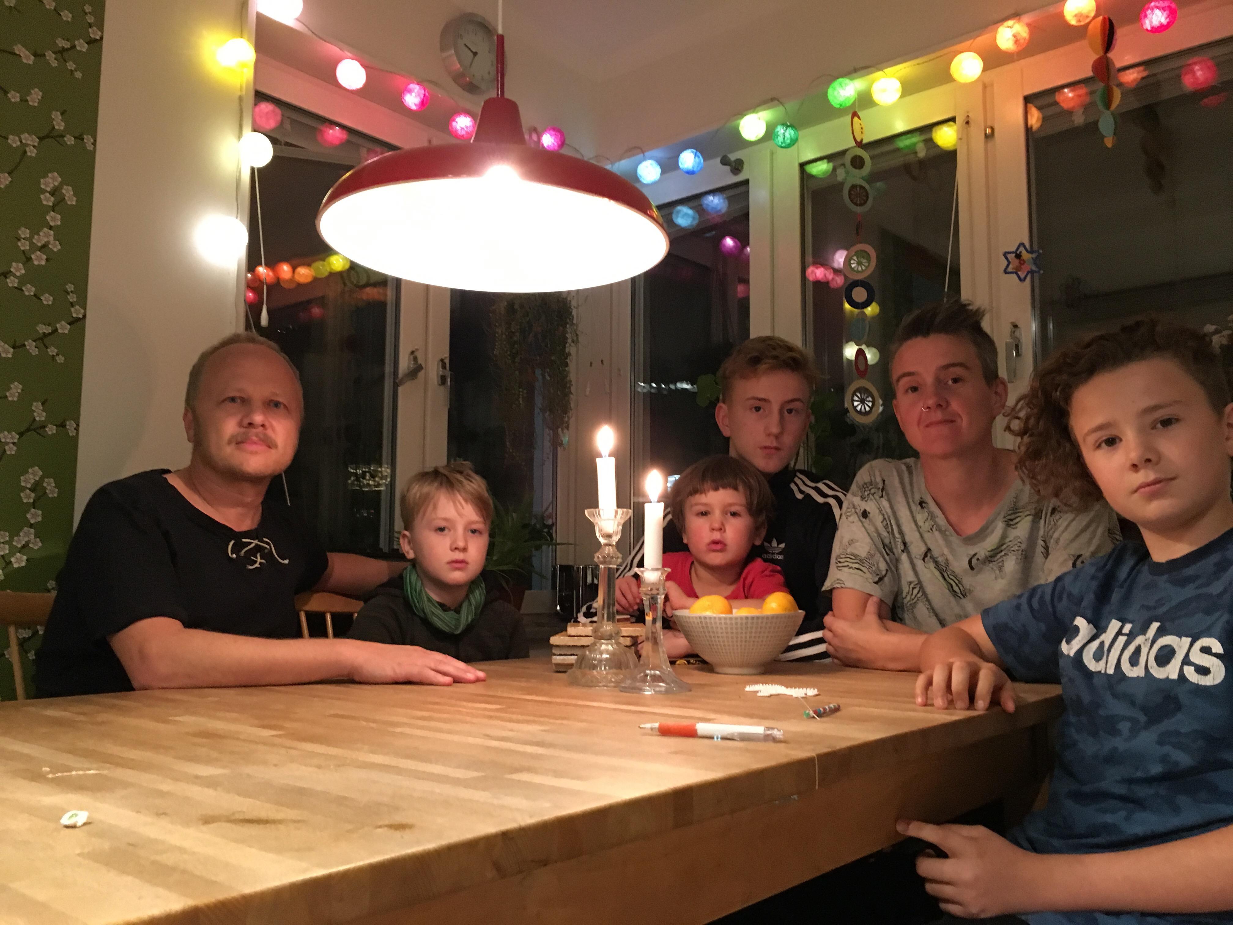 Yasins svenska familj. Foto © Aminata Grut