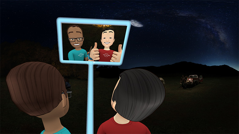 facebook spaces vr selfie