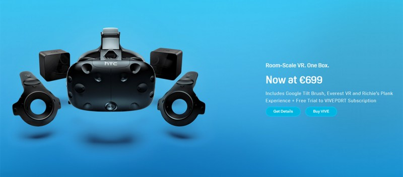 HTC Vive now costs $599/£599/€699 - The Ghost Howls