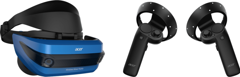 Acer mixed reality headset with controllers