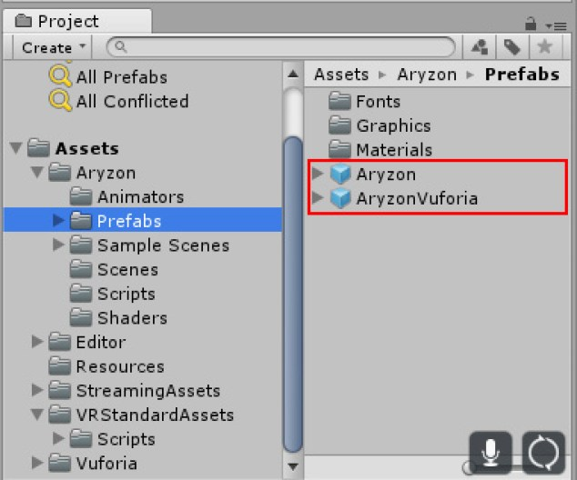 how to Aryzon SDK AR Unity development