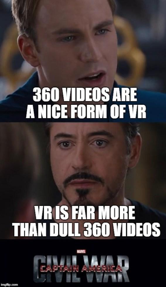 are 360 videos virtual reality