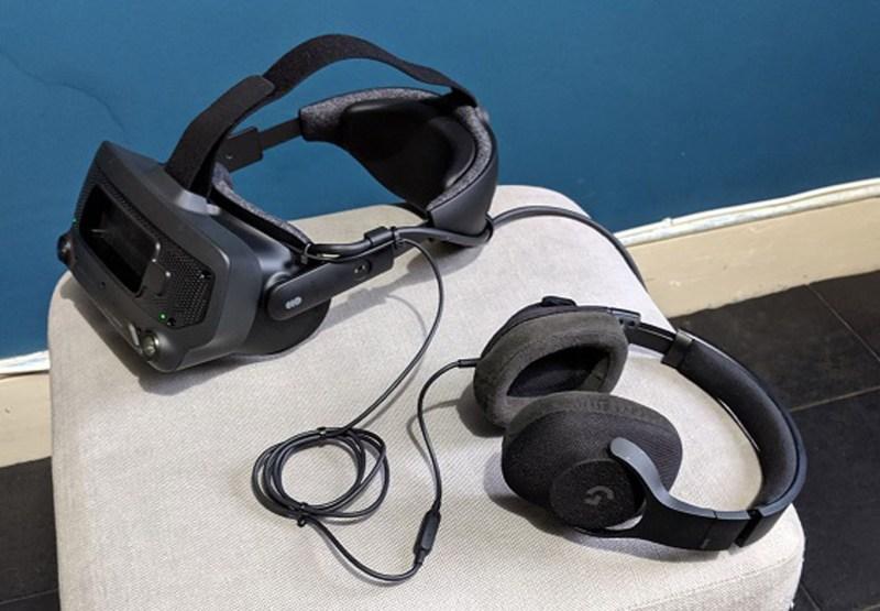 Index with Logitech headphones