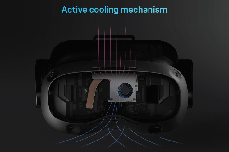vive focus 3 active coolying system