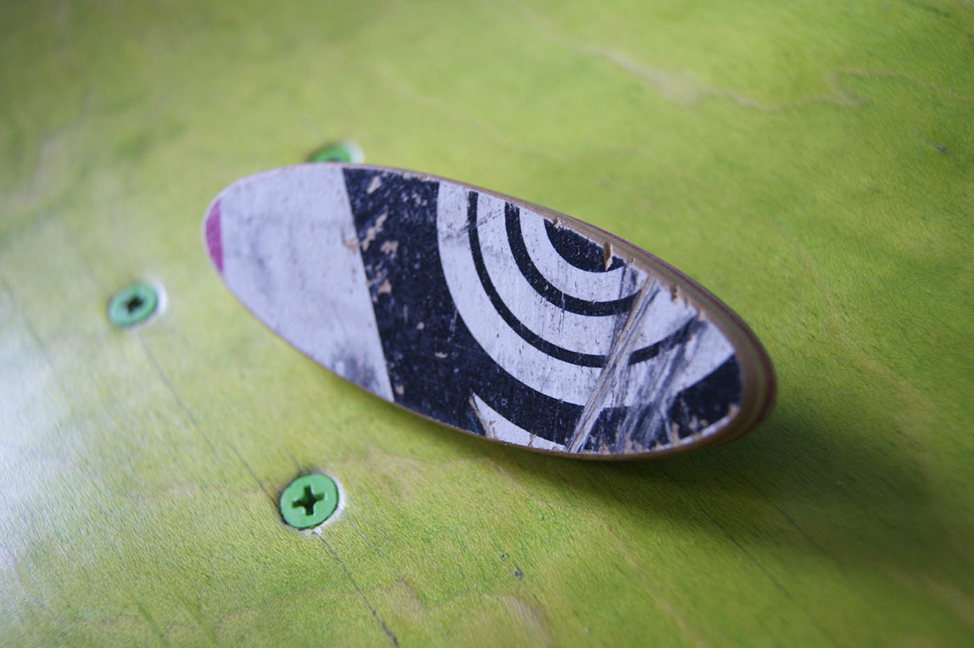 Hair Clip Skateboard Unique Handcraft Upcycling
