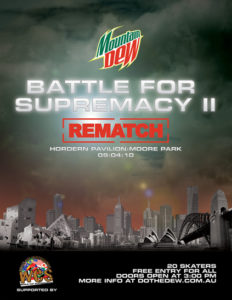 Do The Dew - The Battle for Supremecy 2 Flyer
