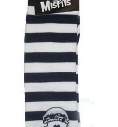 Misfits Socks Fiend Knee High BLACK & WHITE Stripes.