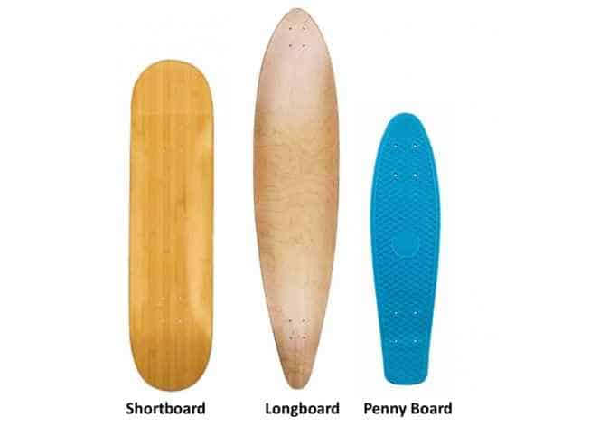 What shapes of the skateboard decks do we have