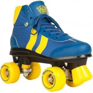 Rookie Retro rolschaatsen blauw-geel