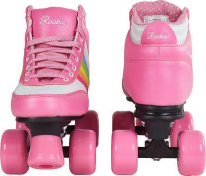 Rookie rainbow roze kinder rolschaatsen