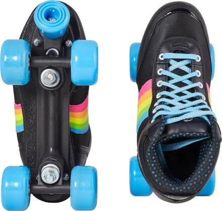 rookie forever rainbow rolschaats zwart bovenaanzicht