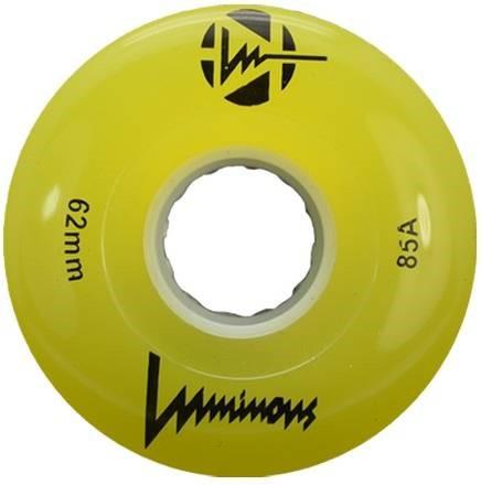 Luminous Gele lichtgevende rolschaats wielen
