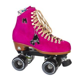 Mooie Moxi fuchsia dames rolschaatsen