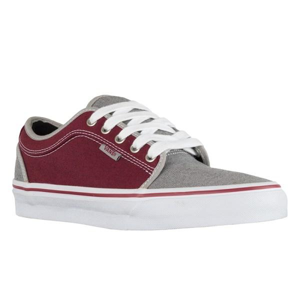 Vans Chukka Shoes Grey Burgundy Skate Pharm