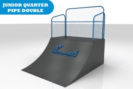 The junior quarter pipe skate ramp module is one of the modules available for councils and commercial organisations from Skateramps Australia