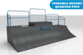 The variable height quarter pipe skate ramp module is one of the modules available for councils and commercial organisations from Skateramps Australia