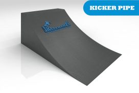 The kicker pipe skate ramp module is one of the modules available for councils and commercial organisations from Skateramps Australia