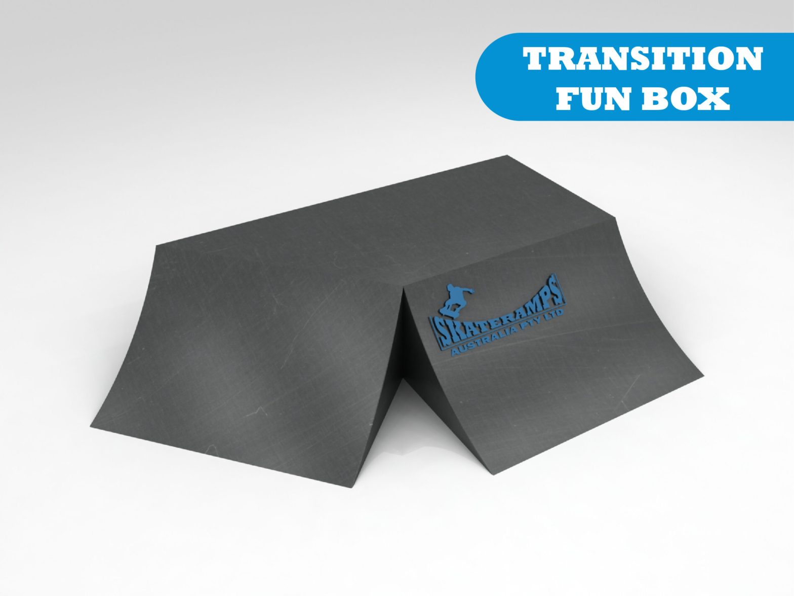 The transition funbox skate ramp module is one of the modules available for councils and commercial organisations from Skateramps Australia