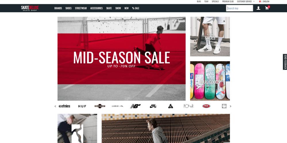 SKATEDELUXE online skate shop review by Skateshoeguru