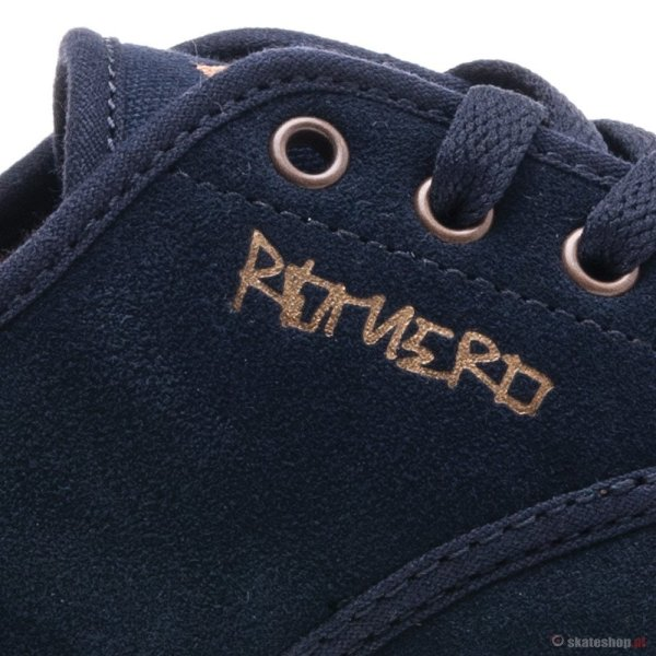 Emerica Laced Leo Romero '13 Navy Gum Gold Shoes