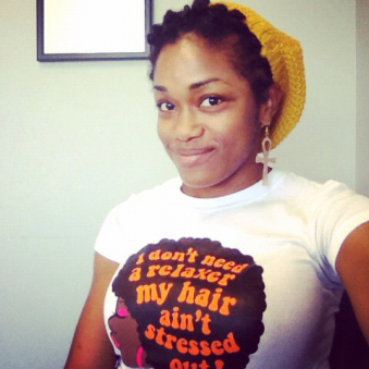Love her shirt too!