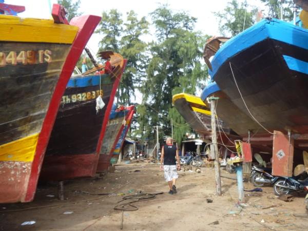 båt varvet i Phan Thiet