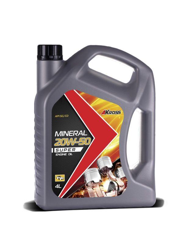 Масло моторное AKross SUPER 20W-50 SG/CD 4л