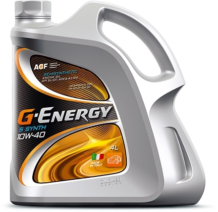 Масло моторное G-Energy S Synth 10W-40 SL/CF 5л по цене 4л АКЦИЯ