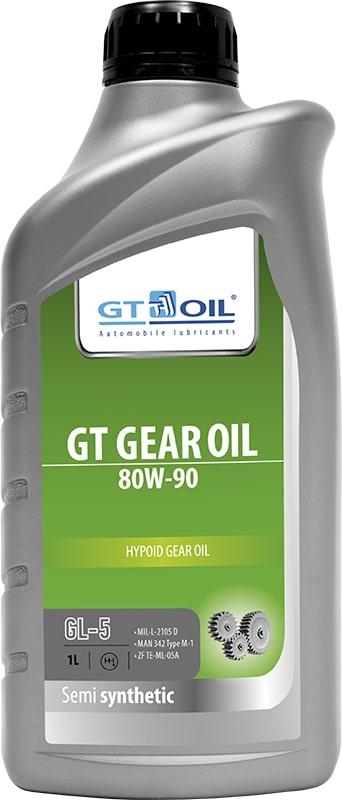 Масло трансмиссионное GT OIL GEAR 80W90 GL-5 1л