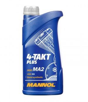 Масло четырехтактное MANNOL 4-ТАКТ PLUS 10W40 SL полусинтетика 1л