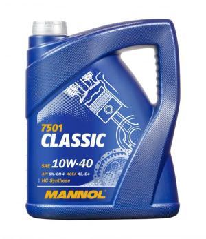 Масло моторное MANNOL Classic 10W-40 SN/CF A3/B4 5л