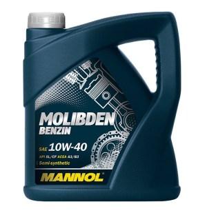 Масло моторное MANNOL Molibden Benzin 10W-40 SL/CF A3/B3 4л