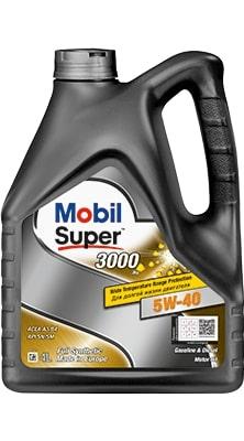 Масло моторное Mobil Super 3000*1 Synt S 5W-40  SN/SM  A3/B3 синтетика, финское 4л
